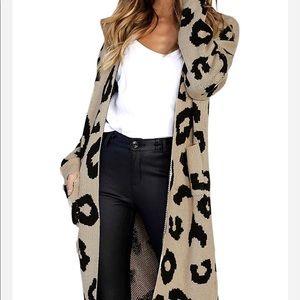 Sweaters - NWT! Leopard Print Cardigan
